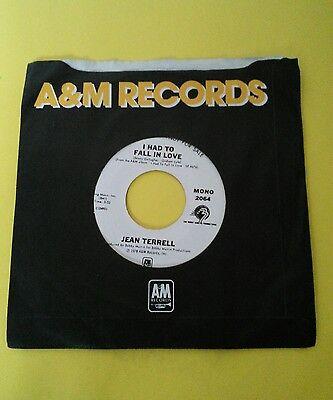Jean Terrell ( Supremes) ( Motown ) I Had To Fall In Love A& M promo  7""