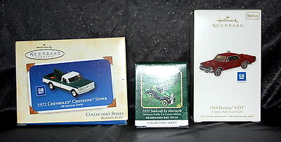 3 HALLMARK  KEEPSAKE / Miniature- ORNAMENT LOT - MUST SEE!