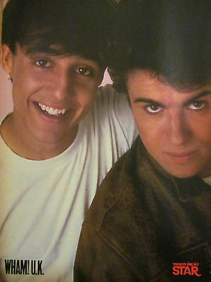 Wham, George Michael, Full Page Vintage Pinup
