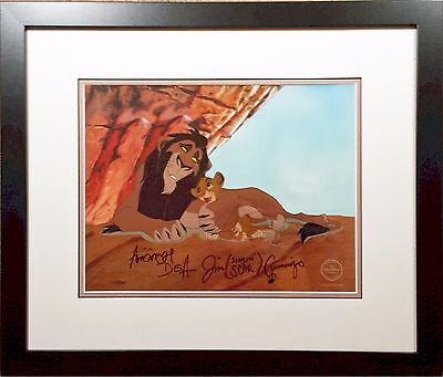 Disney Lion King Cel Scheming Scar Simba Hand signed Andreas Deja Sericel
