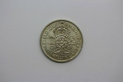 1945 George VI Silver One Florin / Two Shillings Coin #18