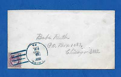 """1935 """"BABE RUTH"""" Cover Addressed PO Box 1083 Chicago for Quaker Oats Contest"""