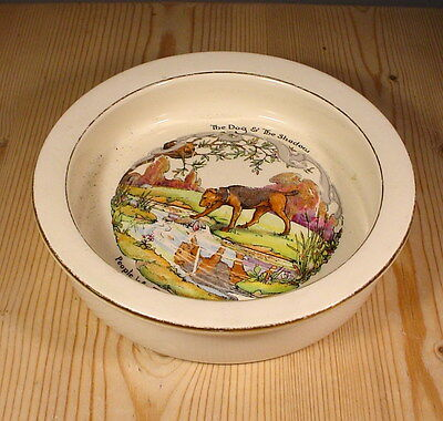 """Royal Winton Grimwades """"The Dog & The Shadow"""" Aesop's Fable Baby Bowl"""