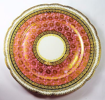 J. POUYAT LIMOGES FRANCE CHINA PLATE 22K GOLD TRIM (with special note)