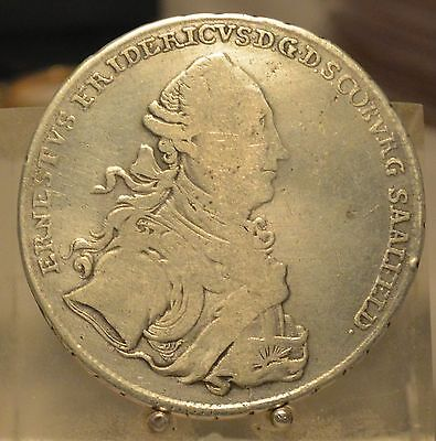 1765IC-K Germany (Saxe Coburg Saalfeld) Silver Thaler, Old Dollar Size Coin