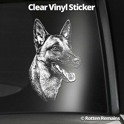"Belgian Malinois 5"" Clear Gloss Decal Sticker Shepherd Dog K9 Window Print L11"