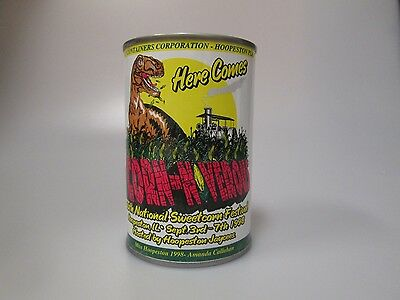 VINTAGE Here Comes Corn-N-Niverous Metal Can COLLECTIBLE BANK 1998