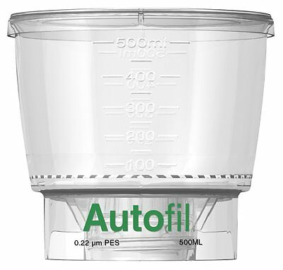 Autofil 1152-RLS Bottle Top Filtration Funnel Only, 500 ml, 0.2 m PES (Pack of