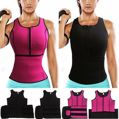 Plus Size Neoprene Body Sauna Tank Vest With Adjustable Shaper Trainer Cincher
