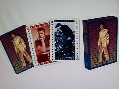 Elvis Presley In Gold Lame Suit Poker Size 52 Playing Card Deck New