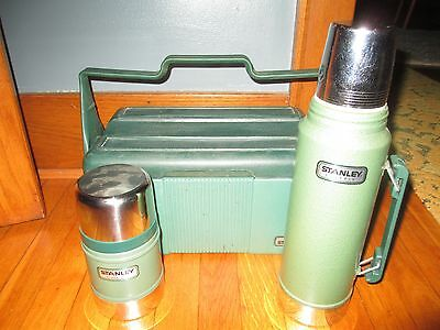 Stanley Aladdin Lunchbox Cooler & Thermos Combo w/Extra Soup Bottle USA Made