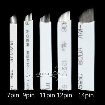 Lots FLEXIBLE Microblading Needles -Tattoo Permanent Makeup Manual Eyebrow Blade