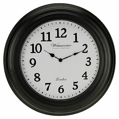 Large 50cm Westminster Wall Clock Home Decor Modern Round Number Time Display