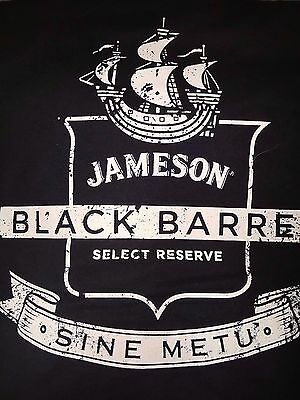 Jameson Irish Whiskey American Apparel Black Barrel XL T-Shirt Rare