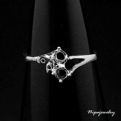 Ring Setting Sterling Silver 3 mm. Round. size 7