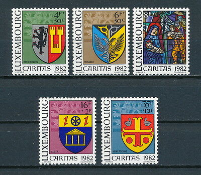 Luxembourg #B337 - 41 MNH, Christmas 1982, Coats of Arms