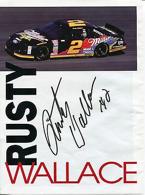 Rusty Wallace NASCAR Driver HOF Hall Of Fame Signed Autograph Photo