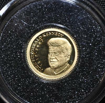 2007 Palau - One Dollar - Proof Gold Coin - John F. Kennedy