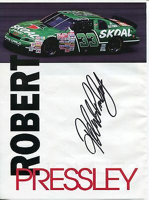 Robert Pressley NASCAR Driver Signed Autograph Photo
