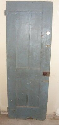 "Vintage Wood Interior Door Grey on one side & Brown on the other. 77 1/4"" X 27"""