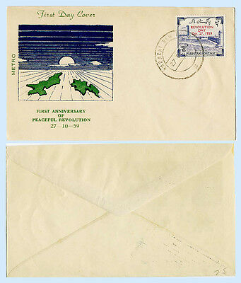 Pakistan 1959 Revolution Day Karachi #103 First Day Cover FDC