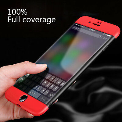 360° Waterproof Dustproof Rubber Phone Case Cover For iPhone X 6 6s 7 Plus 5 5s