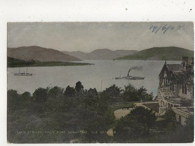 Loch Striven From Port Bannatyne Isle Of Bute 1905 Postcard 533b