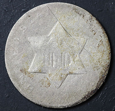1851-o 3 Cent Silver.  Well Circulated.  95959