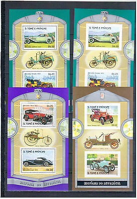 Sao Tome & Principe  1983 Blocks Cars  Perfored + Imperfored    Mnh