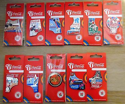London 2012 Olympics Paralympics Coca Cola Day Of The Games 27 Pin Badges