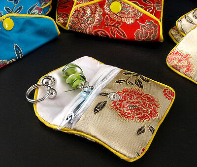 12pcs Mixed Color Silk Jewelry Box Bags Pouch Storage Organizers Party Gift Bag