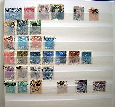 Selection Of Unsorted Early Brazil Stamps