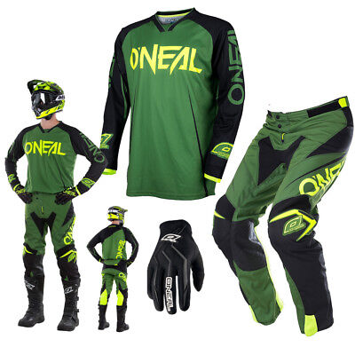 ONEAL Mayhem Blocker Lite Combo Hose & Jersey Motocross Enduro in army grün