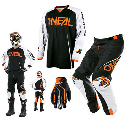 ONEAL Mayhem Blocker Lite Combo Hose & Jersey Motocross Enduro in schwarz orange