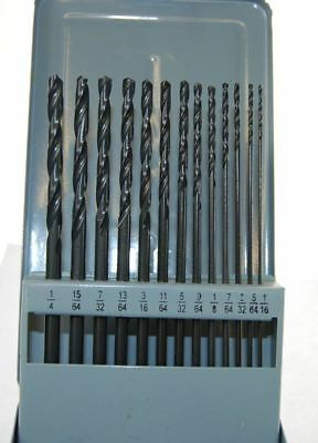 Extra Long Imperial Drill Set 13Pc Precision Ground Hss Aircraft Drills