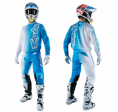 Troy Lee Designs GP AIR Combo 50/50 blau weiss Hose Shirt Enduro Motocross