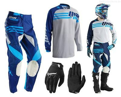 Thor Phase Strands MX Combo cement Motocross Hose Shirt Handschuhe