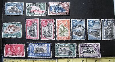 Selection Of Ceylon George Vi Stamps. Mm & Used.