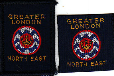 Boy Scout Badges obsolete GTR LONDON NORTH EAST County ribbon+bound