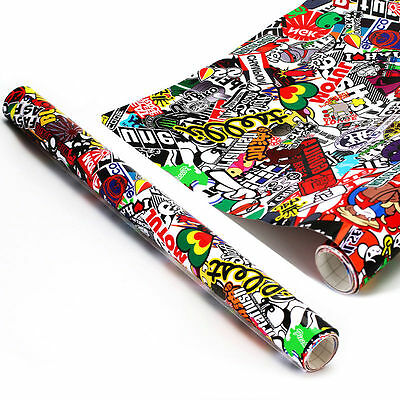 "JDM illest Stickerbomb Graffiti Cartoon Vinyl Film Wrap Sticker Decal 60"" x 20"""