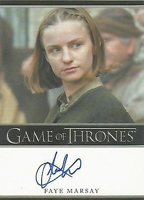 "Game of Thrones Season 6 - Faye Marsay ""The Waif"" Autograph Card"