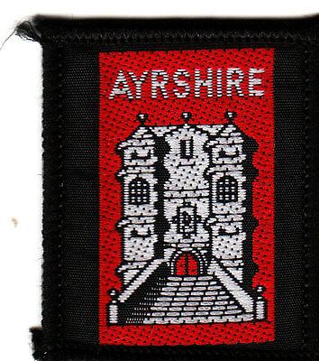 Boy Scout Badge Ext AYRSHIRE Scotland