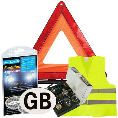 European Car Driving Travel Kit Emergency Warning Triangle EU France Abroad