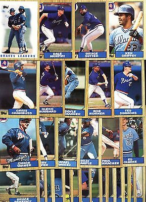 ATLANTA BRAVES-Select Any Complete Topps Base Set from 1993 to 2015