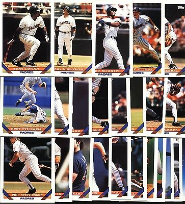 SAN DIEGO PADRES-Select Any Complete Topps Base Set from 1990 to 2013