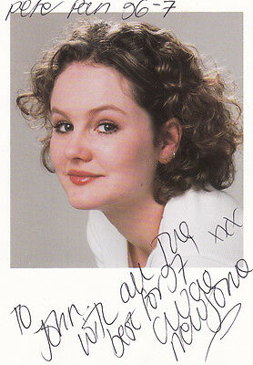 Chloe Newsome Coronation Street Peter Pan Hand Signed To John Photo