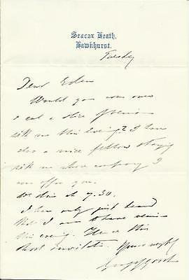 George Goschen Politician Chancellor of the Exchequor Hand Signed Letter + MORE