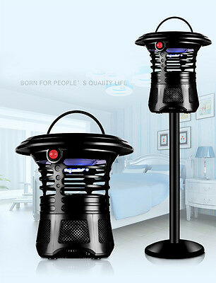 Electric Mosquito Killer Zapper Fly Bug Control UV Lamp Trap New Muted & Stand