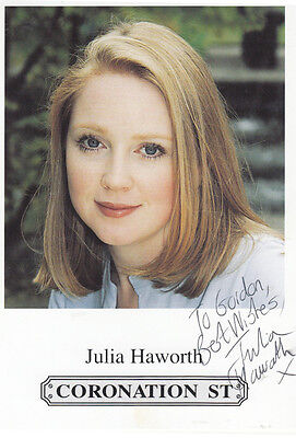 Julia Haworth Coronation Street Hand Signed Cast Card Photo