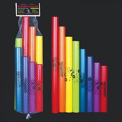 Boomwhackers C Major Diatonic Set of 8 Musical Tubes - Notes C to C